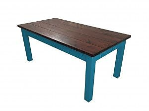Ezekiel and Stearns Charleston Dining Table; Blue