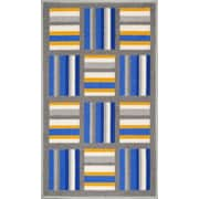Well Woven Kings Court Blue/Gray Area Rug; 3'3'' x 4'7''