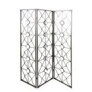Firefly Home Collection 70.75'' x 50.5'' Mirrored 3 Panel Room Divider