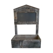 Cheungs House Planter Box with Chalkboard; Brown