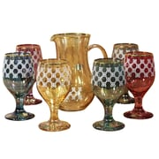 Lorren Home Trends Veneziano 7-Piece Pitcher Set