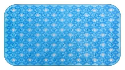 AttractionDesignHome Non-Slip Shower Mat; Blue
