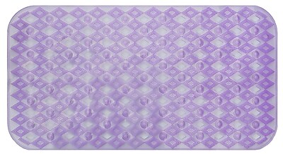 AttractionDesignHome Non-Slip Shower Mat; Purple WYF078279202197