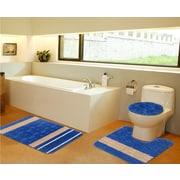 Daniels Bath 3 Piece Bath Mat Set; Navy Blue