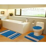 Daniels Bath 3 Piece Bath Mat Set; Turquoise