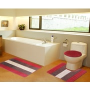 Daniels Bath 3 Piece Bath Mat Set; Red