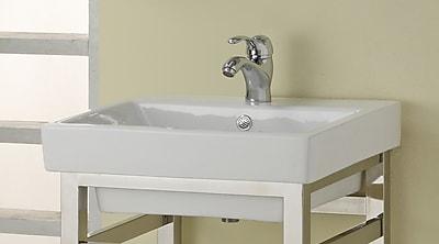Empire Industries Milano Ceramic 21'' Console Bathroom Sink w/ Overflow