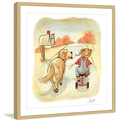 Marmont Hill 'Golden Pal' by Phyllis Harris Framed Painting Print; 12'' H x 12'' W x 1.5'' D