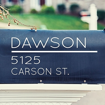 Davis Vinyl Designs Modern Mailbox Decal; Black