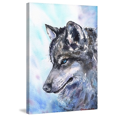 Marmont Hill 'Wolf' by George Dyachenko Painting Print on Wrapped Canvas; 36'' H x 24'' W x 1.5'' D