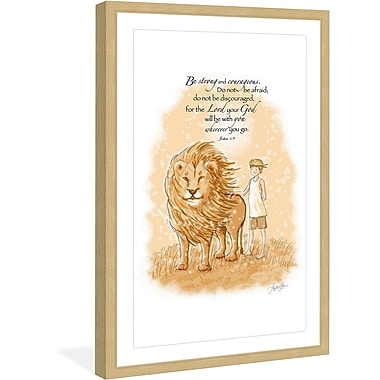 Marmont Hill 'Be Strong' by Phyllis Harris Framed Painting Print; 18'' H x 12'' W x 1.5'' D