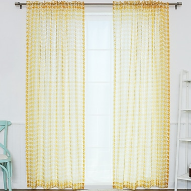 Best Home Fashion, Inc. Curtain Panels (Set of 2); Yellow