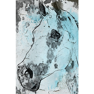 Marmont Hill 'Horse Head' by Irena Orlov Painting Print on Wrapped Canvas; 36'' H x 24'' W x 1.5'' D