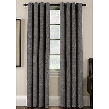 Thermatec Freemont Solid Blackout Grommet Curtain Panels (Set of 2); Flint Gray