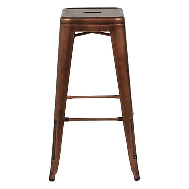 Commercial Seating Products Oscar 30'' Bar Stool; Rose Gold