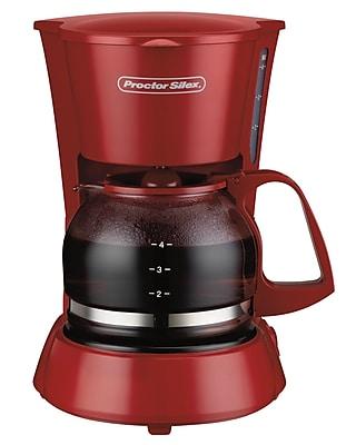 Proctor-Silex 4 Cup Coffeemaker; Red WYF078279203095