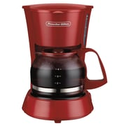 Proctor-Silex 4 Cup Coffeemaker; Red