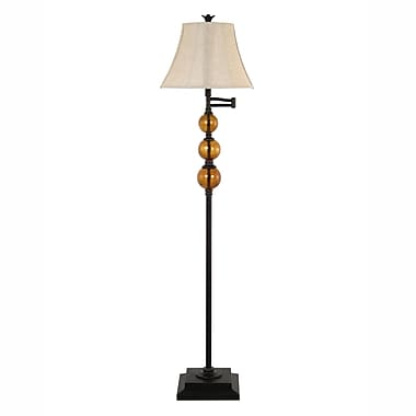Homestyle Collection 60.75'' Swing Arm Floor Lamp
