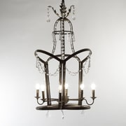 Zentique Inc. Garland 6-Light Candle-Style Chandelier