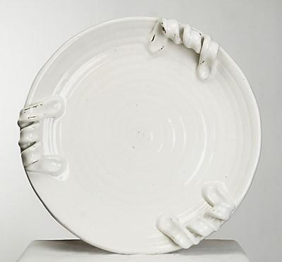 Zentique Decorative Pottery Platter; White