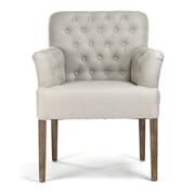 Zentique Inc. Barrois Tufted Arm Chair; Natural