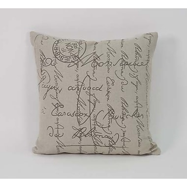 Zentique Inc. Scripted Throw Pillow