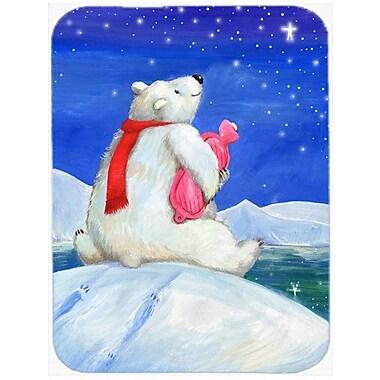 Caroline's Treasures Polar Bear w/ Hot Water Bottle Glass Cutting Board