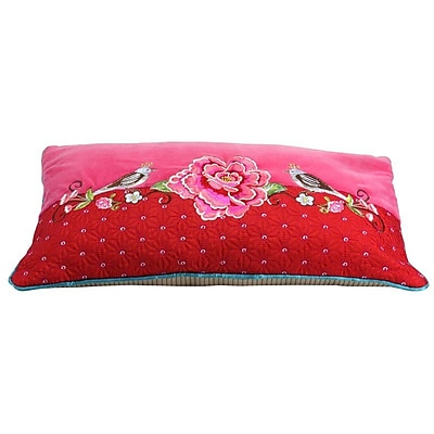 Heritage Lace PiP Studio Lumbar Pillow Cover; Red