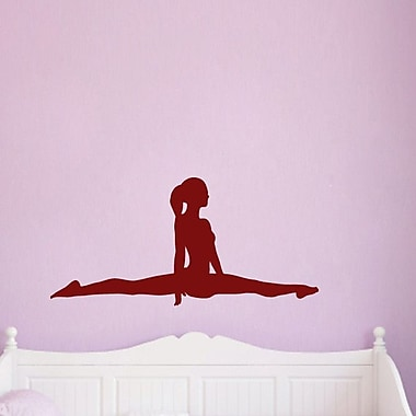 SweetumsWallDecals Gymnast Doing Splits Wall Decal; Cranberry
