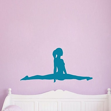 SweetumsWallDecals Gymnast Doing Splits Wall Decal; Teal