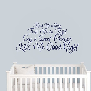 SweetumsWallDecals Read Me a Story Wall Decal; Navy