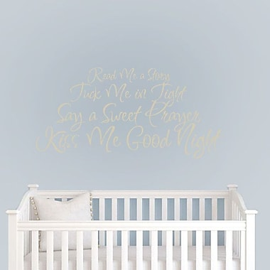 SweetumsWallDecals Read Me a Story Wall Decal; Beige