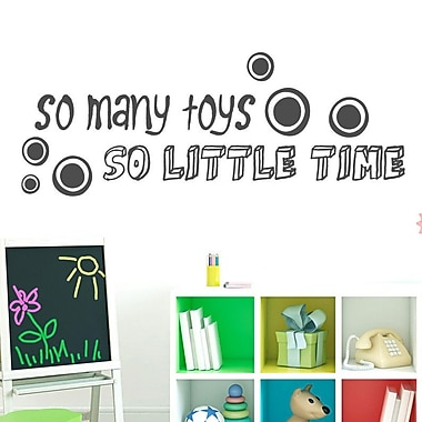 SweetumsWallDecals So Many Toys So Little Time Wall Decal; Dark Gray