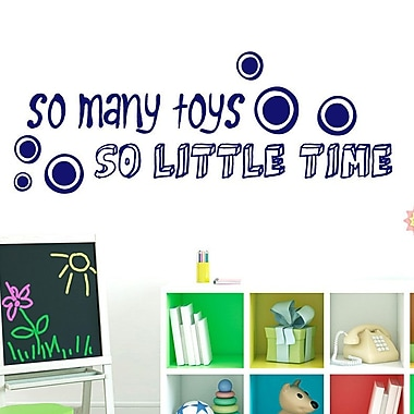 SweetumsWallDecals So Many Toys So Little Time Wall Decal; Navy
