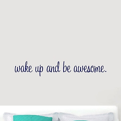 SweetumsWallDecals ''Wake Up and Be Awesome'' Wall Decal; Navy