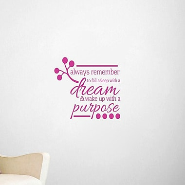 SweetumsWallDecals Wake Up w/ a Purpose Wall Decal; Hot Pink