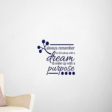 SweetumsWallDecals Wake Up w/ a Purpose Wall Decal; Navy