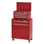 "Waterloo Industries 26"" 6 Drawer Tool Center with Parts Bin, Red (STC-266RD-F)"