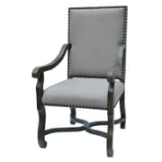 Crestview St. James Nailhead and Linen Arm Chair
