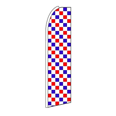 NeoPlex Checkered Swooper Flag; Red/White/Blue