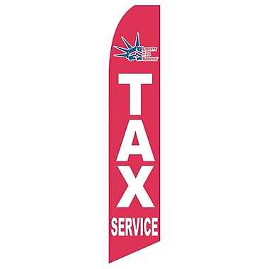 NeoPlex Liberty Tax Service Swooper Flag; Red