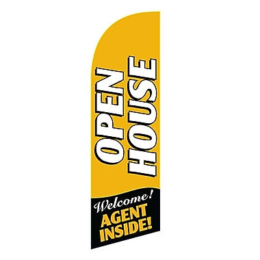 NeoPlex Open House Agent Swooper Flag; Gold