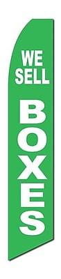 NeoPlex We Sell Boxes Swooper Flag; Green