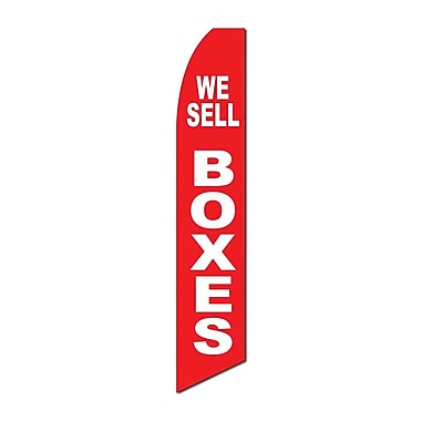 NeoPlex We Sell Boxes Swooper Flag; Red