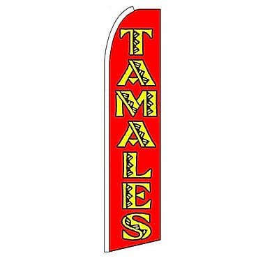 NeoPlex Tamales Swooper Flag; Red