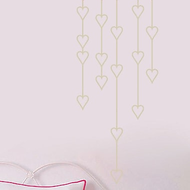 SweetumsWallDecals Hanging Hearts Wall Decal; Light Beige
