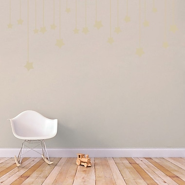 SweetumsWallDecals Hanging Stars Wall Decal; Light Beige