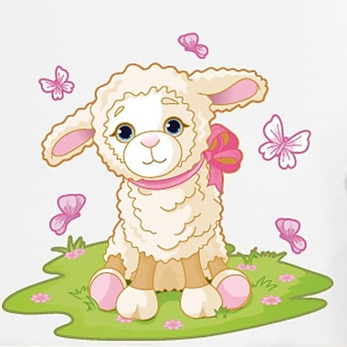 Style and Apply Baby Lamb Wall Decal; 24'' H x 22'' W