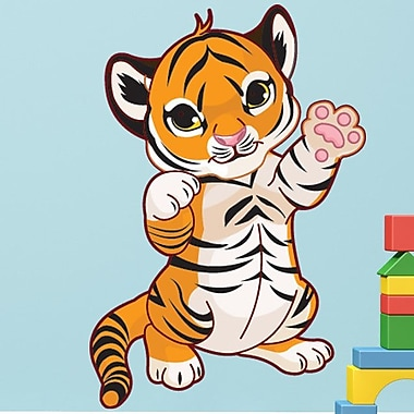 Style and Apply Baby Tiger Wall Decal; 31'' H x 22'' W