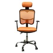 HomCom Mesh Desk Chair; Orange